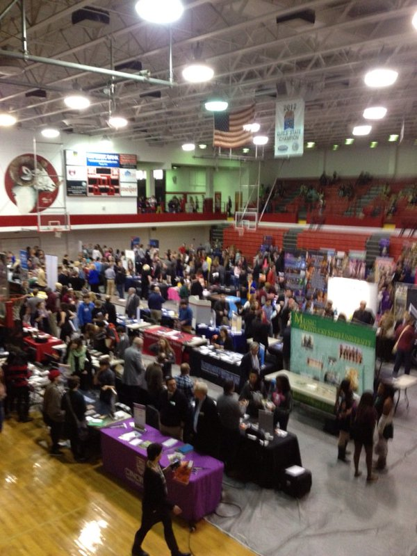 Image of Tables at College Career Day