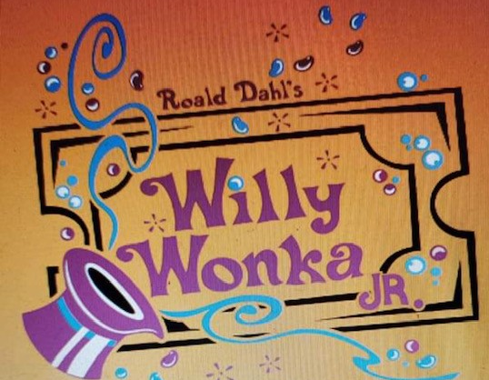 "Poster reading ""Willy Wonka Jr"""
